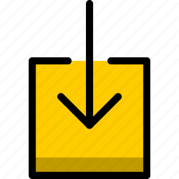 arrow, document, download, files, text icon