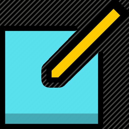 edit, file, pencil, write icon