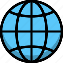 direction, global, globe, location icon