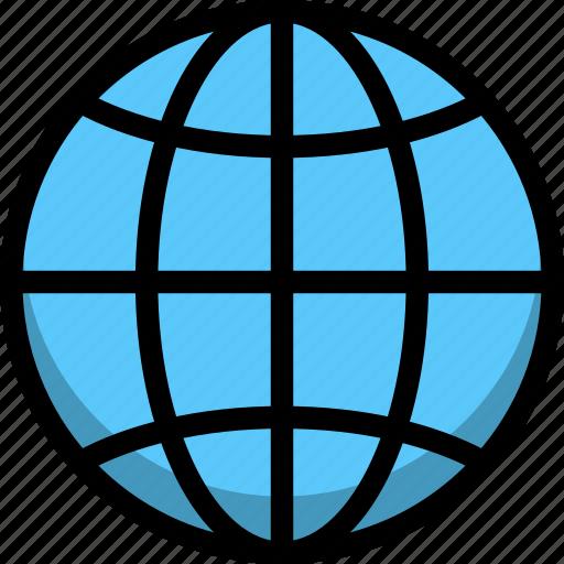 direction, global, globe, location icon