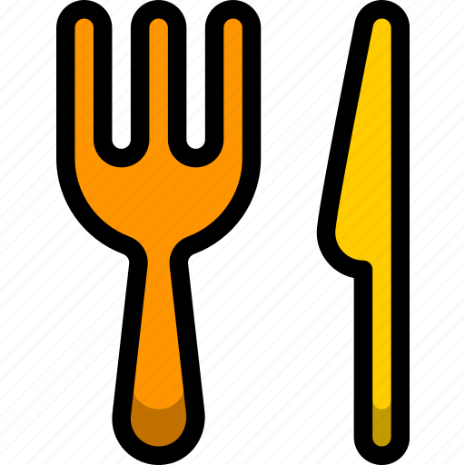 and, fork, knife, military, restaurant, weapon icon