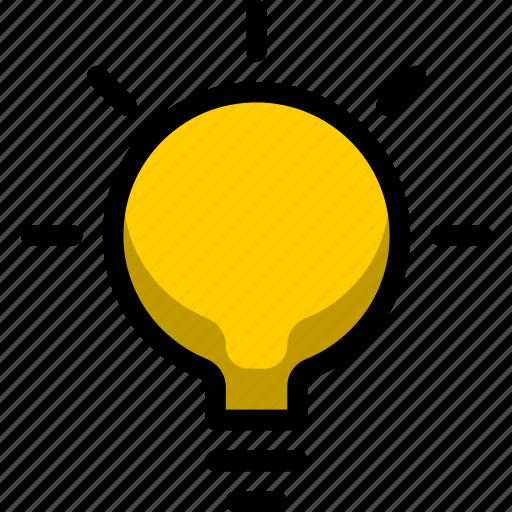 bulb, business, creative, flower, lightbulb, line, web icon