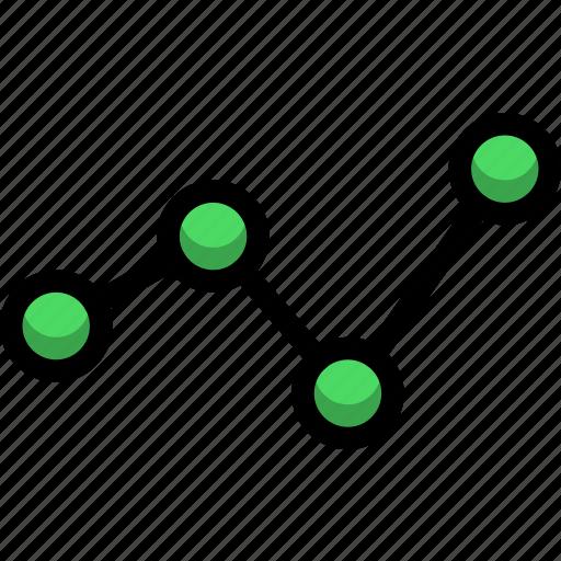 analysis, chart, diagram, finance, line icon