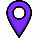 building, location, pin, place, point icon