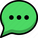 comment, conversation, message, speech, text icon