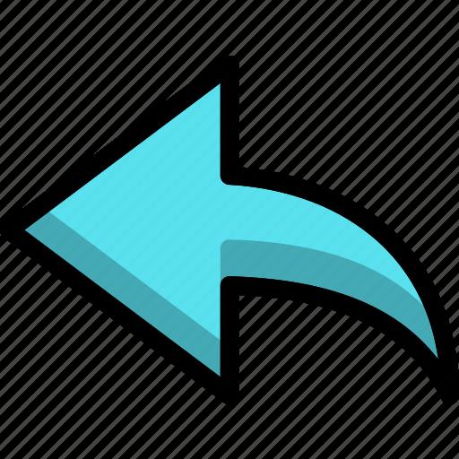arrow, document, envelope, open, reply icon