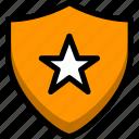 firewall, insurance, lock, privacy, shield, unlock icon