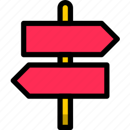 arrow, back, directional, sign, signpost icon