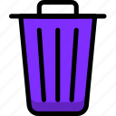 cancel, exit, navigation, sign, trash icon