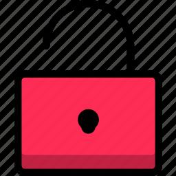 access, login, mail, open, unlocked icon