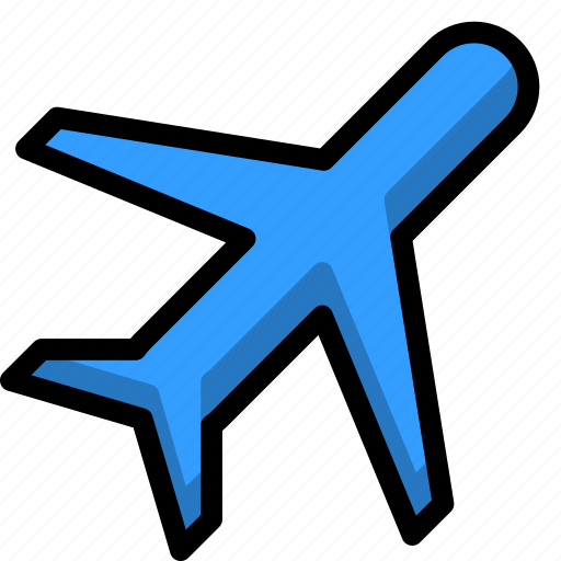 airplane, airport, fly, jet, sky icon
