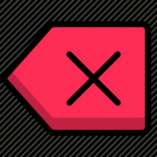 cross, delete, file, garbage, text icon