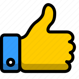 hand, left, like, move, thumbs, up icon