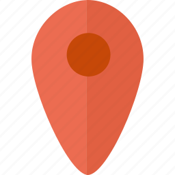 map, pointer icon