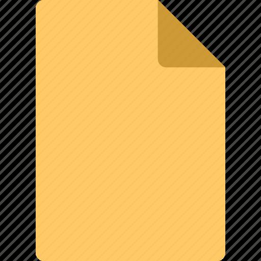 paper, yellow icon