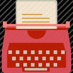 document, publish, typewriter icon