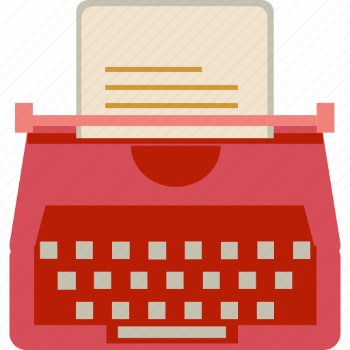 document, publish, typewriter icon