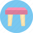 chair, furniture, stool icon