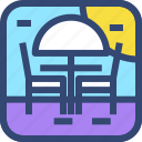 beach, chair, decoration, furniture, interior, umbrella icon