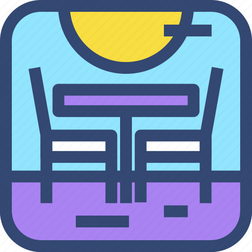 Beach, chair, decoration, furniture, interior, table icon - Download on Iconfinder
