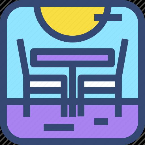 beach, chair, decoration, furniture, interior, table icon