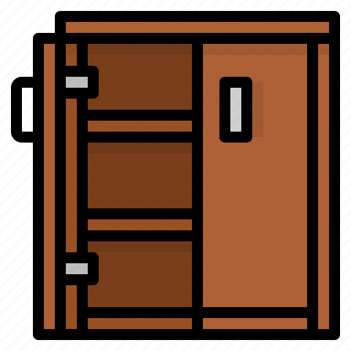 cabinet, cupboard, furniture, storage icon