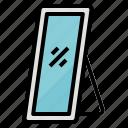 beauty, furniture, mirror, reflex icon