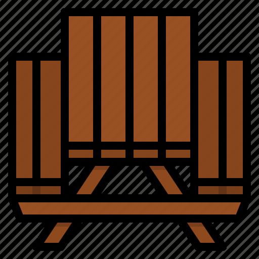 bench, garden, picnic, table icon