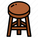 decoration, furniture, household, stool icon