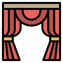 curtains, decoration, furniture, household, window icon