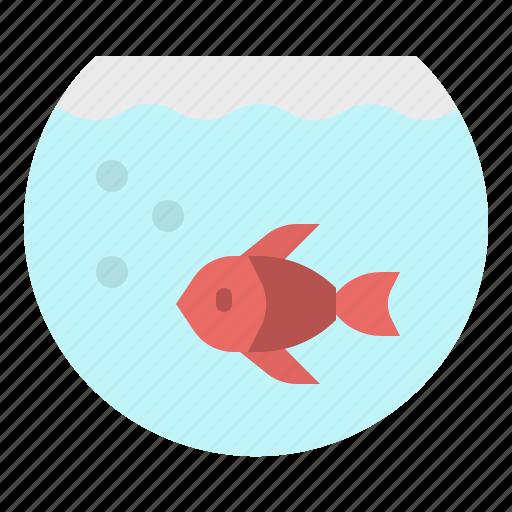Aquarium, bowl, fish, goldfish, pet icon - Download on Iconfinder