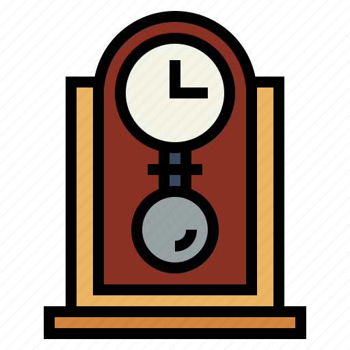 clock, furniture, time, vintage icon