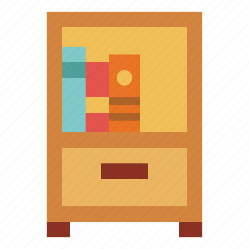 bedroom, bedside, drawer, furniture, table icon