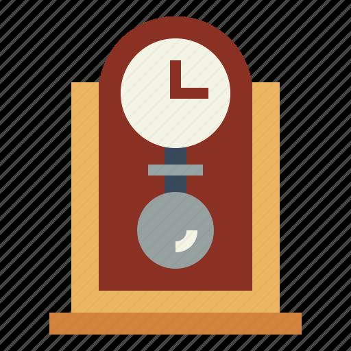 clock, furniture, time, vintage icon