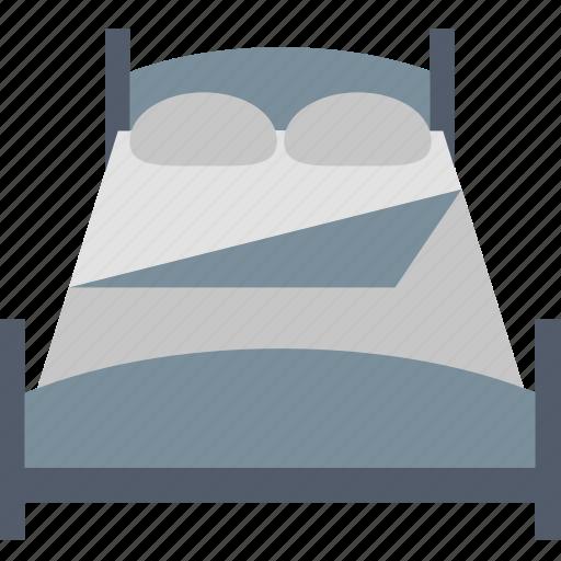 bed, bedroom, blanket, double, interior, pillow, sleeping icon