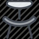 armchair, chair, furniture, interior icon