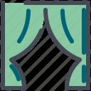 curtain, fabric, interior, textile