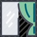 curtain, fabric, interior, textile, window