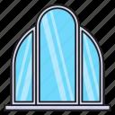 decoration, furniture, interior, mirror, showcase icon