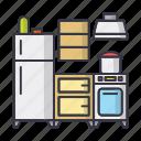 kitchen, food, cooking, cook, home, fridge