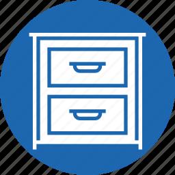 belongings, books, cloth, drawer, furnishing, furniture, imitation icon