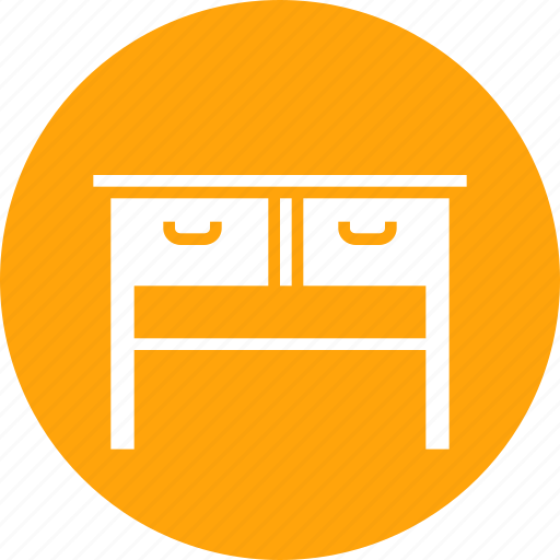 drawer, furnishing, furniture, household, imitation, study, table icon