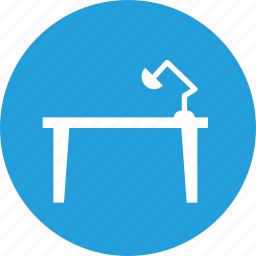 belongings, desk, furnishing, household, study, studying, table icon