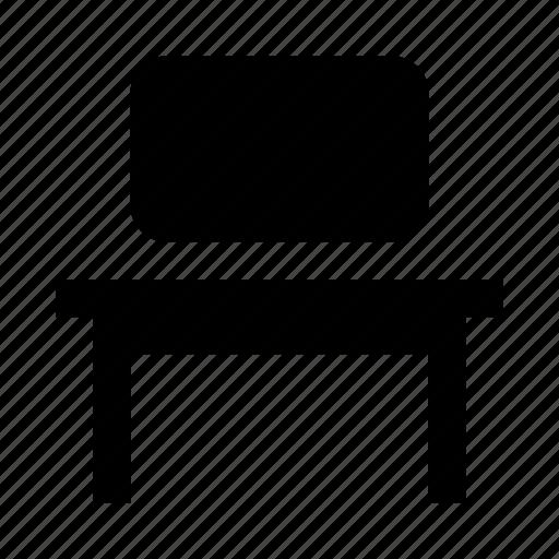 computer, desk, furniture, pc, tv icon