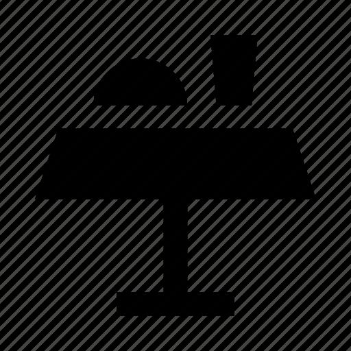 cafe, furniture, interior, restaurant, table icon