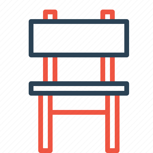 chair, furnishings, furniture, household, seat, sitting icon