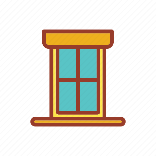 furniture, home, house, living, window icon