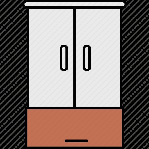 almirah, cupboard, drawer, furniture, home, interior, room icon