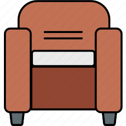armchair, chair, couch, furniture, seat, settee, sofa icon