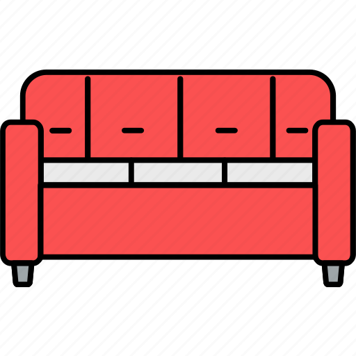 couch, furniture, home, interior, living room, settee, sofa icon